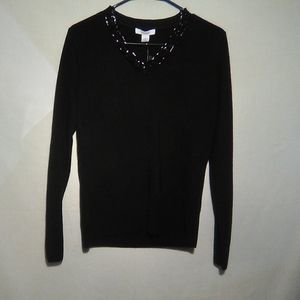Dressbarn black sweater. Medium. #344